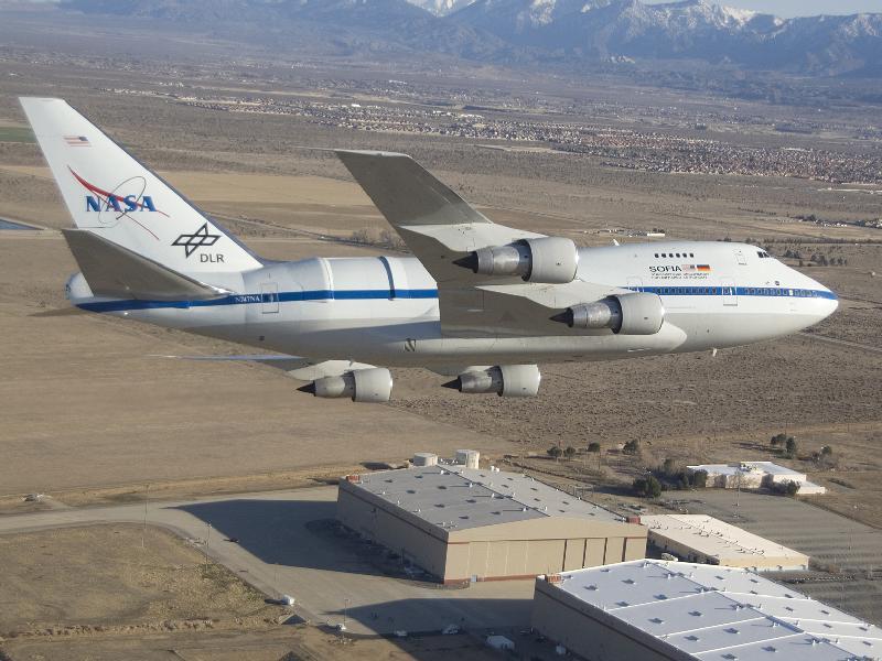 Resultado de imagen de El observatorio SOFIA de la NASA