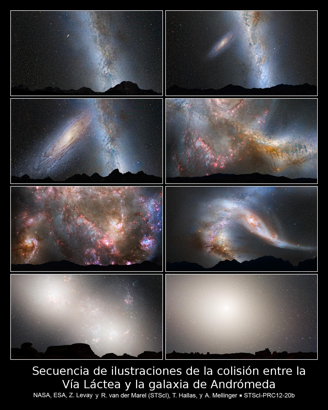 Resultado de imagen de La galaxia Andrómeda se acerca para fusionarse con la Vía Láctea